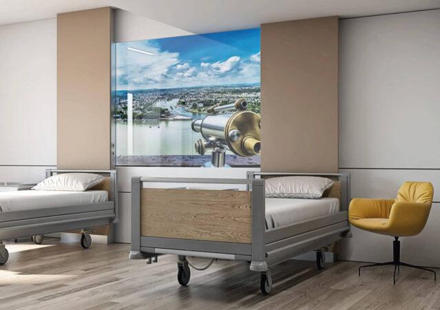 3D Visualisierung Krankenzimmer Kemperhof Klinik