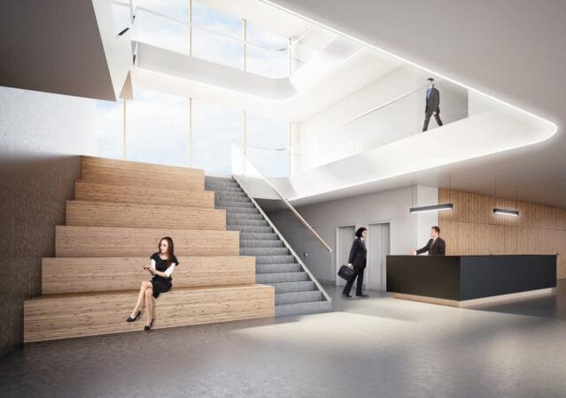 3D Visualisierung Rathaus Foyer