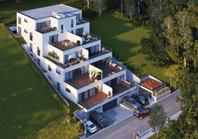 3D Visualisierung Wohnhaus Hanglage